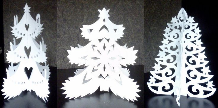 Kirigami - Christmas Trees - Paper Cut by staceysmile on deviantart