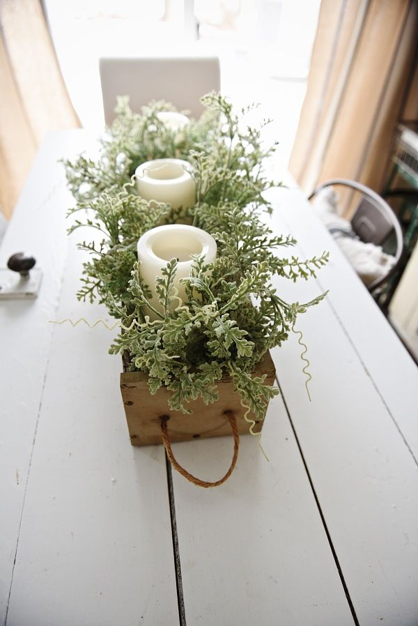 DIY Rustic Wood Box Centerpiece