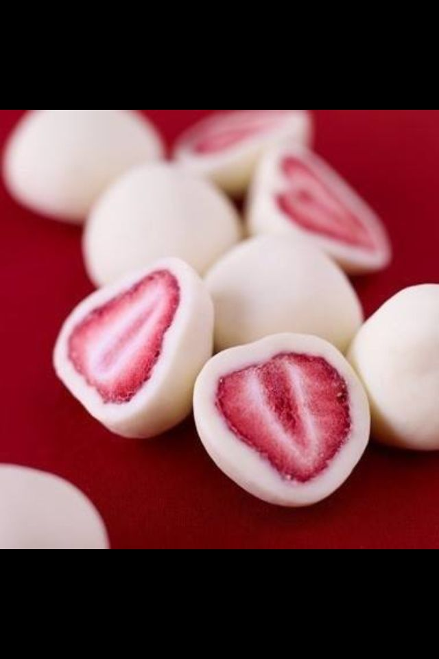 Dip strawberries in yogurt, freeze and you have a healthy snack.   #Strawberries, #yogurt, #frozen, #healthy, #snack
