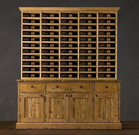 Distinctive Wine Hutch From Restoration Hardware Woodwork Salvaged Wood Shelves