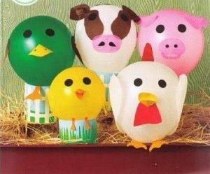 Balloon farm animals craft More