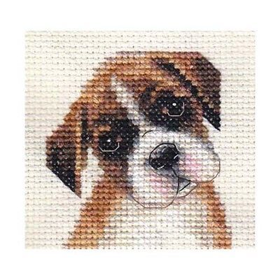 BOXER puppy, dog ~ Full counted cross stitch kit, all materials More