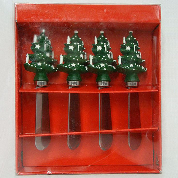 Waechtersbach Germany Green Christmas Tree KNIFE SPREADERS ~ Box Set of 4 NEW **  sc 1 st  Pinterest & 36 best CHRISTMAS DISHES images on Pinterest | Christmas dinnerware ...