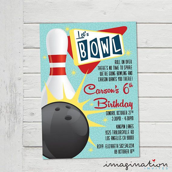 Bowling Invitation Ten Pin Bowling Invite Children S Ten Pin Party
