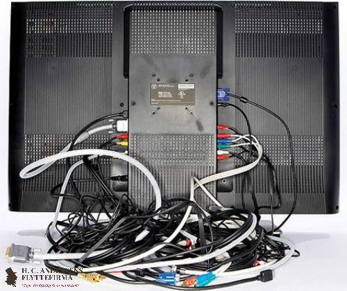 Godt flyttetip: Tag et billede af alle dine elektroniske apparater FØR du tager ledninger osv. ud. På den måde kan du nemt gå tilbage og se hvor de forskellige stik hører til henne.