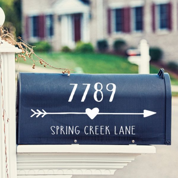 Heart Arrow Mailbox Decal