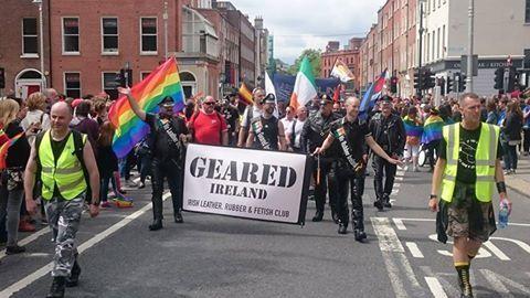 GEARED IRELAND in the Dublin pride Parade 2016