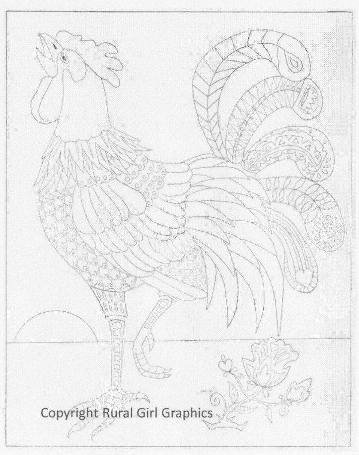 New! Rooster Coloring Sheet for Grown-ups in 2019