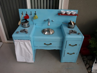Old Dresser   Kids Play Kitchen. So Cute....i Need To