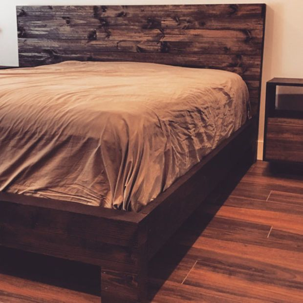 """100 OFF Presidents Day Sale...Rustic Wood Bed Frame & Headboard """"Rengency"""" from the San Saba Collection(prices already adjusted)"""