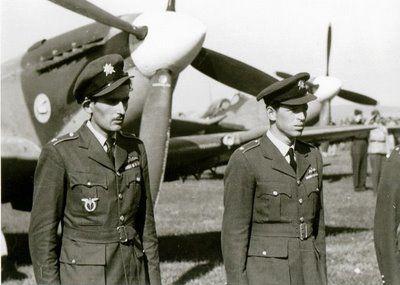 arrival of No. 312 (Czechosolovak) Squadron RAF at Plana airbase near Ceske Budejovice on 22 September 1945