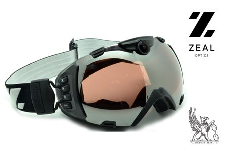 masque de ski ZEAL + caméra et GPS