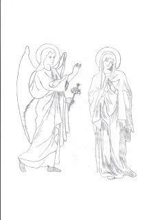 Φρου Φρουκατασκευές στον Παιδικό Σταθμό!: 25η Μαρτίου μέρος τρίτο- Ευαγγελισμός της Θεοτόκου