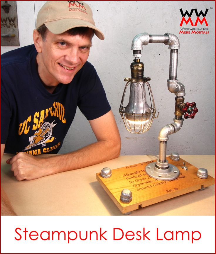 Diy Steampunk Desk Lamp Special Bulb Also Plays Music Via