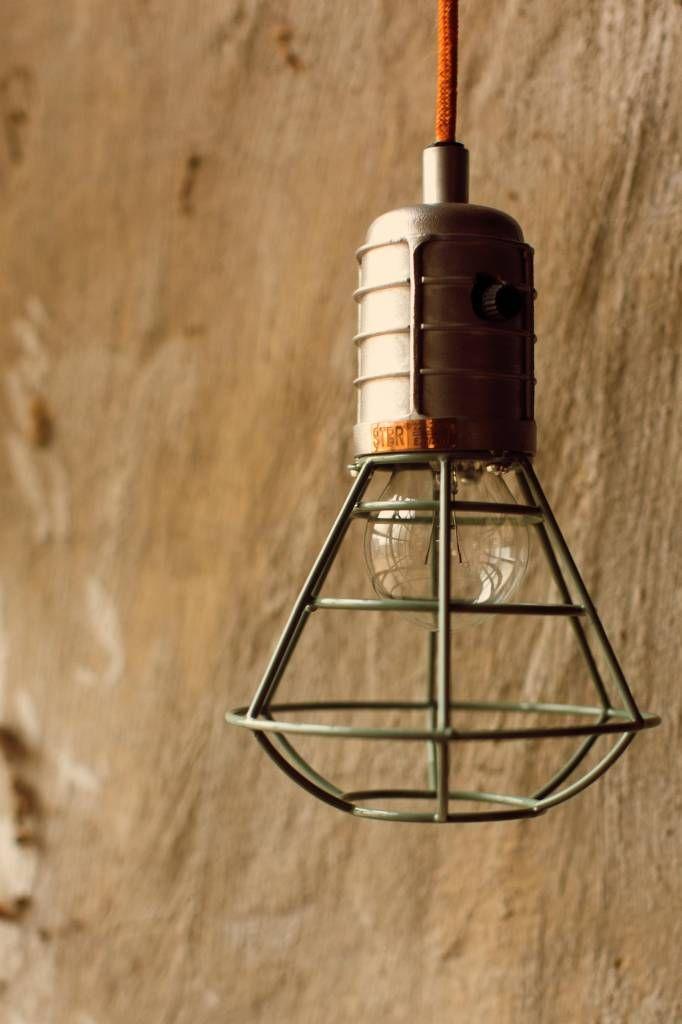 Storebror Hanglamp Mijnlamp metaal groen Ø14x22cm - wonenmetlef.nl