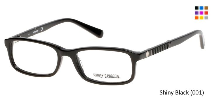 HARLEY-DAVIDSON HD0129T - Shiny Black (001) Eyeglasses for kids adults, frames for unisex prescription eyewear with high quality lenses,Prescription lenses with anti scratch coating.