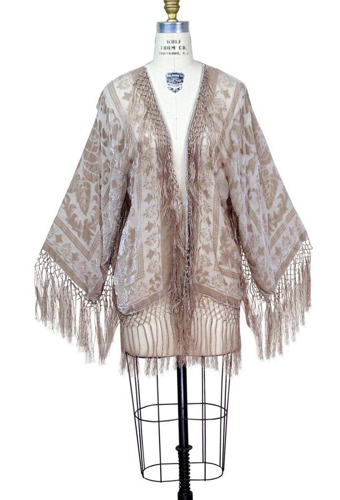 Art Deco Style Jackets Art Deco Scarf Jacket In Champagne Rose By The Deco Haus