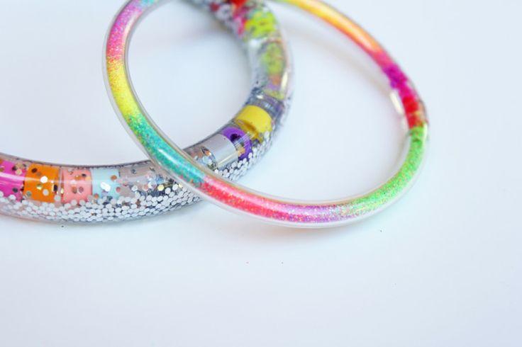 Totally Tubular Glitter Bracelets | BABBLE DABBLE DO