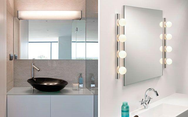 | El baño: iluminación de espejos