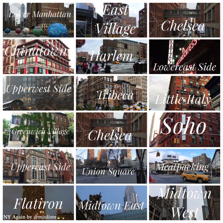 La ciudad de Nueva York cuenta con 5 distritos: Manhattan, Brooklyn, Queens, Bronx y Staten Island. Cada uno cuenta con numerosos barrios para explorar, por eso desde NY Again voy a tratar de ayuda…