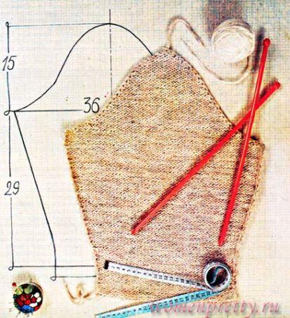 Вязание втачного рукава