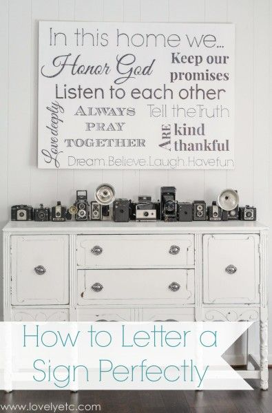 This is so easy to make!  You can make your own family rules sign without special stencils or vinyl.  The secret is Sharpie markers and sandpaper!