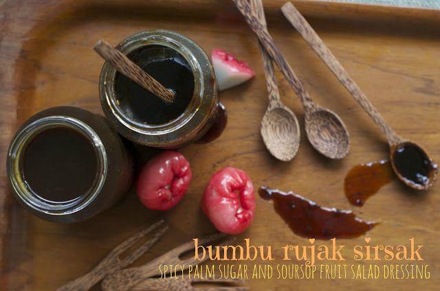 Indonesian Medan Food: Bumbu rujak sirsak ( Spicy Palm Sugar and Soursop Fruit Salad Dressing)