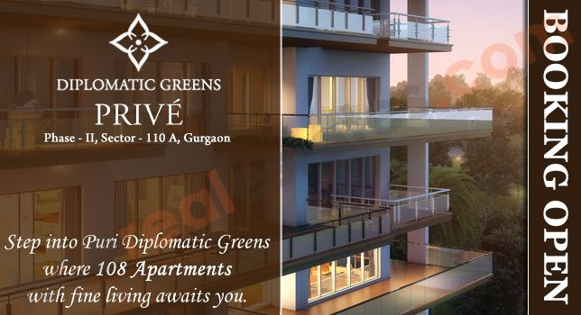 Diplomatic Greens Prive new residential apartments from Puri constructions