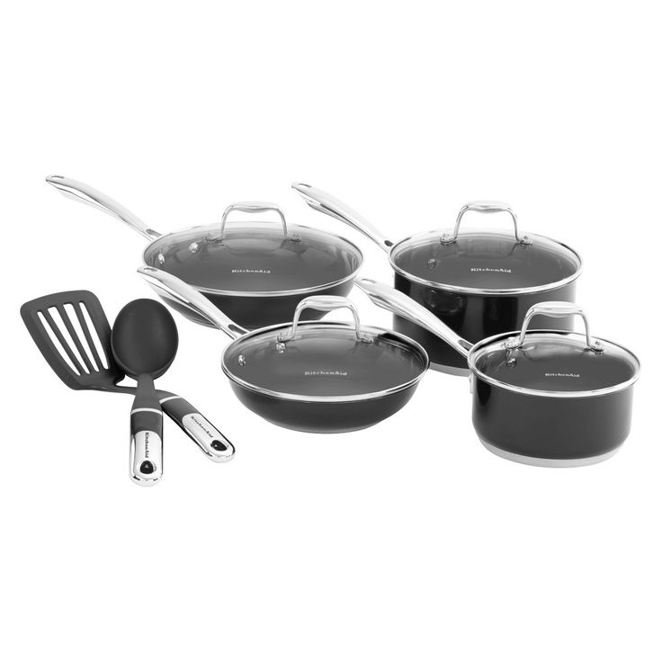 Kitchenaid 10 piece stainless steel culinary set kcss10g