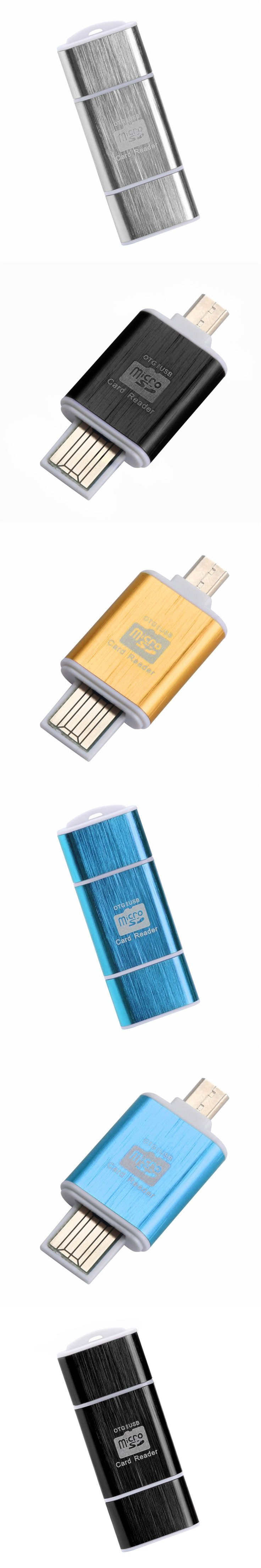 2In1 Micro SD OTG USB 2.0 Flash Drive Card Reader For Smartphone PC Tablet A7