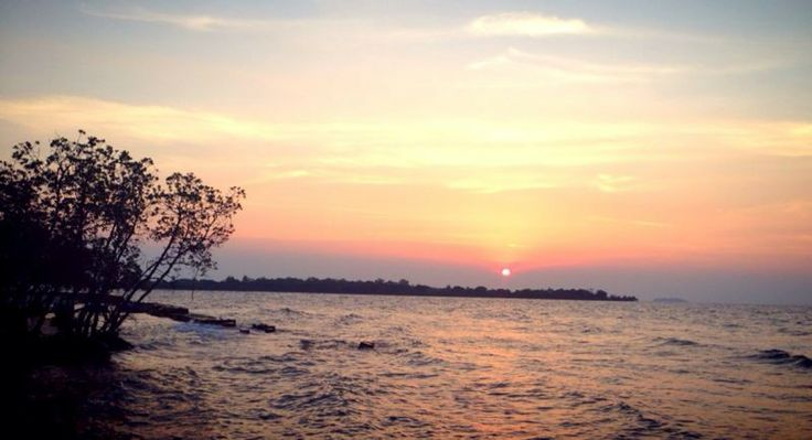 Sunset at Untung Jawa Island.