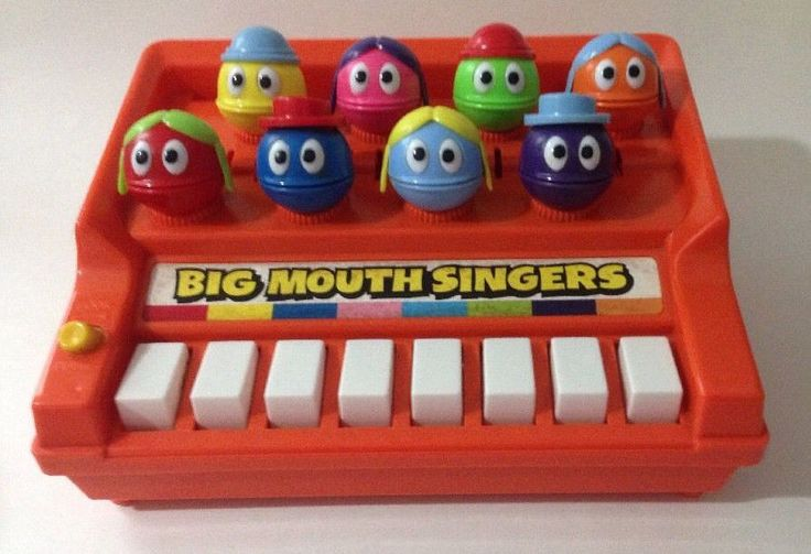 Vintage Child Guidance Big Mouth Singers Childrens Piano Music Toy Non Working  #ChildGuidance