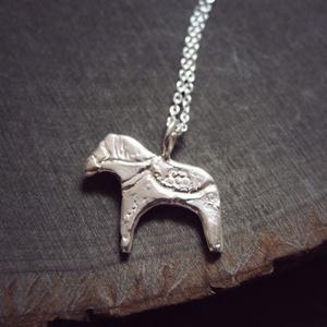 Swedish horse necklace