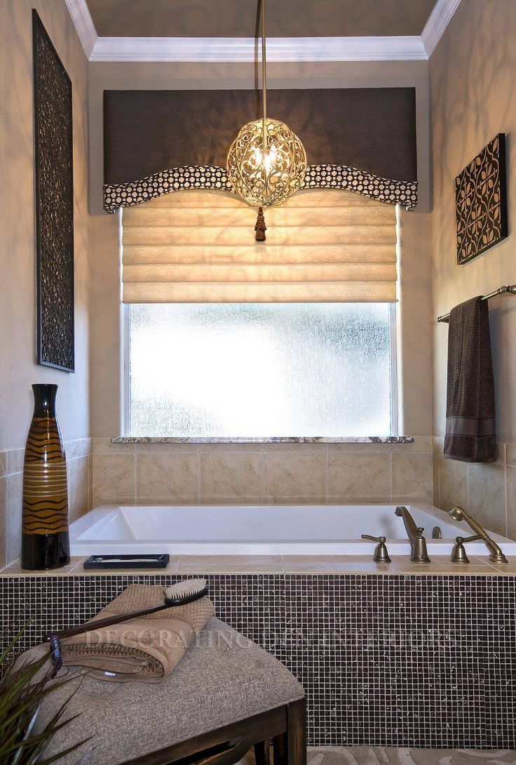 17 best images about window treatments on pinterest for Decorative windows for bathrooms