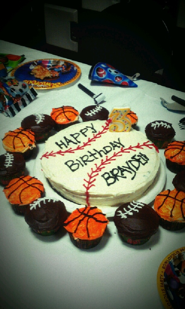"for my baby boys ""sports"" birthday party =)"