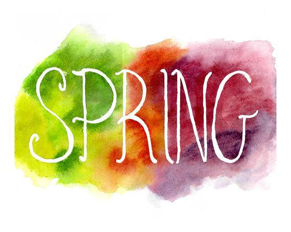 Spring Watercolour Printable - Etsy - Little Pond Prints