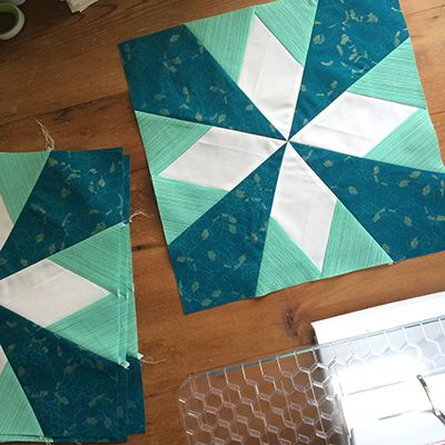 "Fantastic ""Stardust"" block by Faith of Fresh Lemons. Pattern by Lee Heinrich of Freshly Pieced, as found in the book Vintage Quilt Revival: http://www.amazon.com/gp/product/1620330547/ref=as_li_ss_tl?ie=UTF8&camp=1789&creative=390957&creativeASIN=1620330547&linkCode=as2&tag=frelemqui-20"