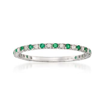 Emerald and diamond eternity band (Daniel's birthstone). This would go perfectly between my wedding band and engagement ring!
