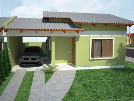 casa com telha zinco