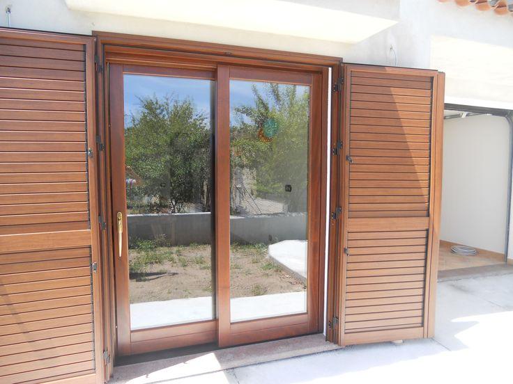 Porta finestra scorrevole + pesiana