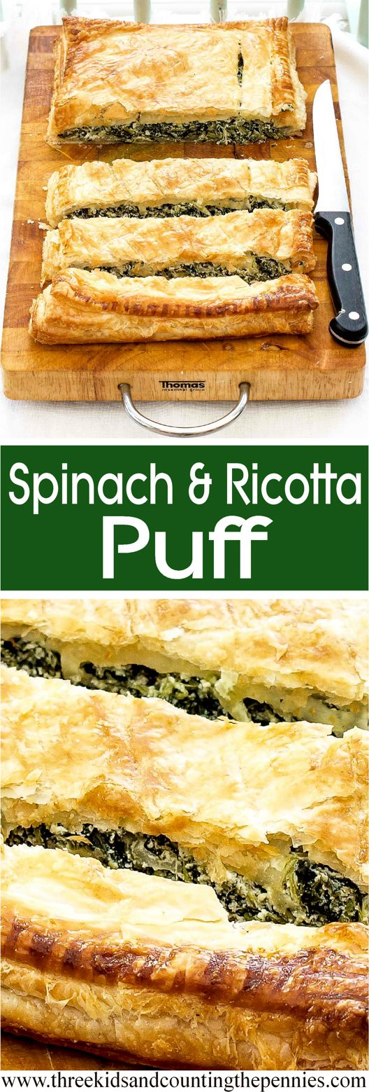 A tasty Spinach & Ricotta Puff recipe.