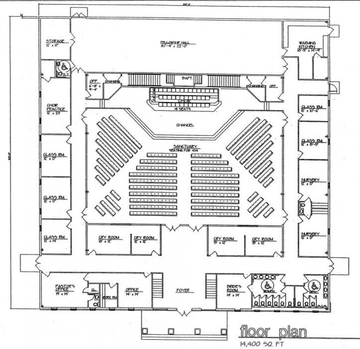 church plan 131 floor plan lth steel 14000 sq ft 475 seats