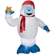$160.00 ebay 6 FT BUMBLE RUDOLPH ABOMINABLE SNOWMAN PLUSH FUZZY Yard Inflatable christmas