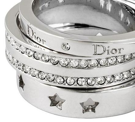 Dior Stackable Rings | More bling here: http://mylusciouslife.com/photo-galleries/bling-fling/
