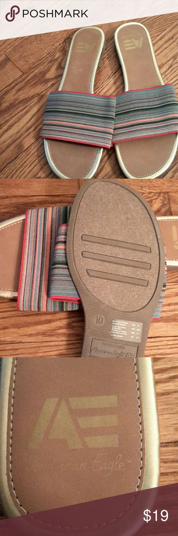 Flip Flops Brand New Multi Color Flip Flops American Eagle by Payless Shoes Sandals