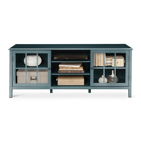 """Windham Large TV Stand 60"""" - Threshold™ : Target $266, """"overcast"""" color, MDF tho and currently unavailable."""
