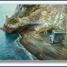 Angolo dell\'isola d\'Ischia realizzato in pittura