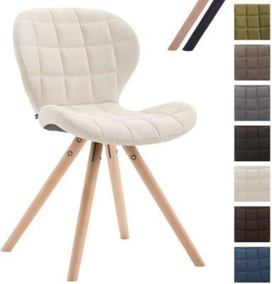 Design Retro Stuhl ALYSSA, Bein Form Rund, Stoff Sitz Gepolstert,