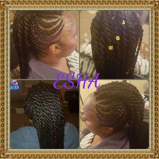 Top 100 senegalese twist styles photos #boxbraids #senegalesetwiststyles #purplebraids #purplehair #longbraids #cornrowstyle #ghanacornrows