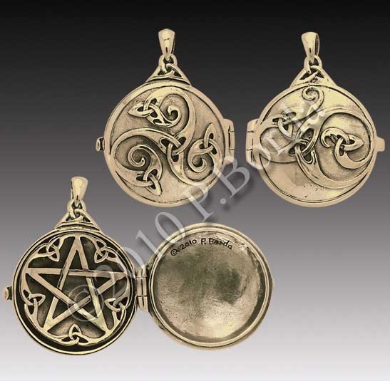 138 best witchy magical mystical jewelry images on pinterest celtic swirl with hidden pentacle locket bronze limited aloadofball Images